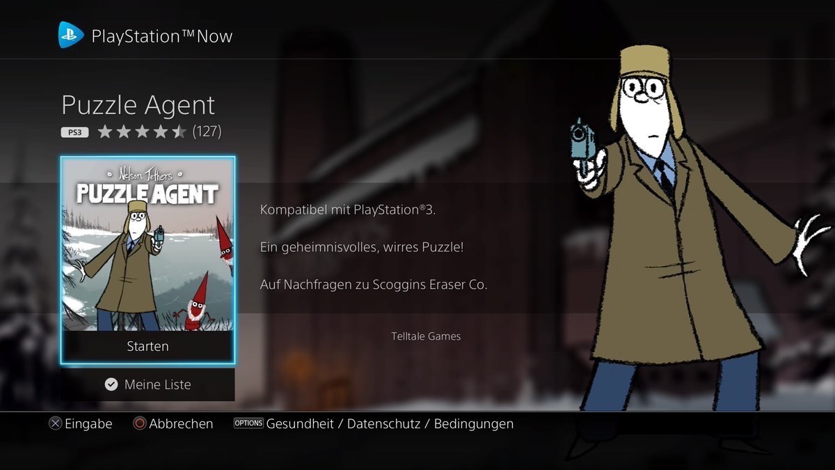 Puzzle Agent bei PlayStation Now